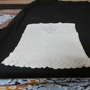 women crochet  top and cushion cover