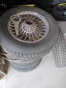 Wire rims for TR6/Stag