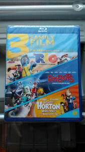 Brand New Rio Robots Horton Hears a Who 3 Movies Blu-Ray Disc