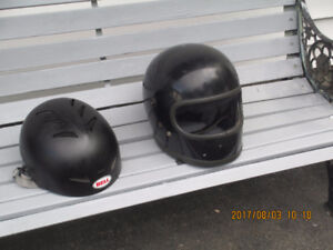 Two helmets at $10.00 each.
