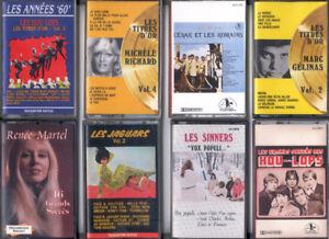 8 cassettes audio d'artistes québecois des années '60