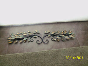 Beautiful sophisticated wall art with green/bronze/gold leaves