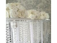 WEDDING DECORATIONS FOR SALE. TABLE CENTREPIECES, CRYSTAL ARCH, WEDDING TREES, CARD CHESTS