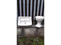Vintage Royal Dalton Bathroom Sink and Toilet