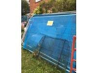 Security fencing, construction site fence panels includes base and clips