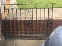 Wrought iron gates, x2.