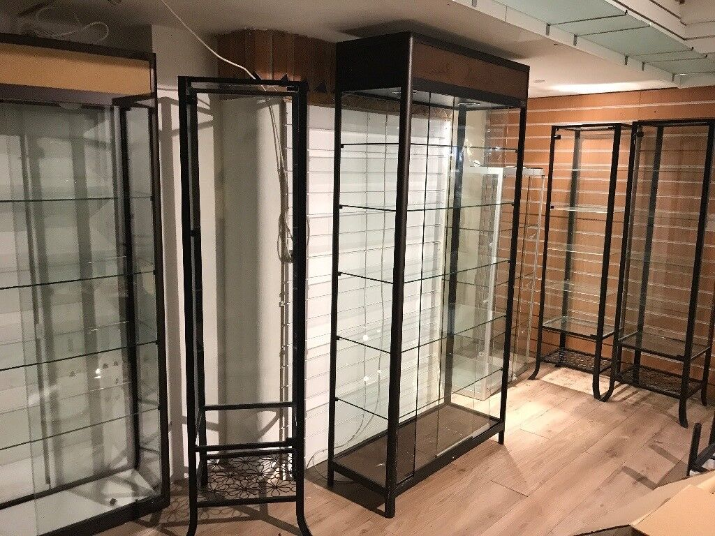 6 glass showcases for sale £750, glass cabinet, display cabinet ...