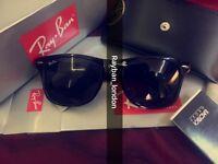 Best wayfarer rayban black new box bag men's women's sunglasses aviator clubmaster classic retro