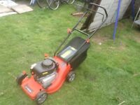 One year old petrol lawnmower for sale due to smaller garden