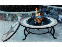 Firepit & BBQ, Beautiful Mosaic Coffee Table and Drinks Cooler by Saltillo