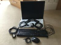 "DELL 17""MONITOR KEYBOARD AND MOUSE GOOD CONDITION AND WORKING ORDER"