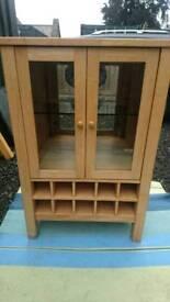 Wood and granite wine cabinet
