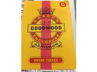 Goodwood festival ticket next Thursday
