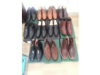 Mens selection of Samuel Windsor shoes and boots. All size 9's and brand new and boxed