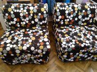 2 x Ikea Lycksele Murbo Chair Sofa Bed