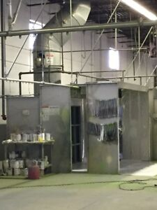 Industrial Paint Booths and Conveyor Line