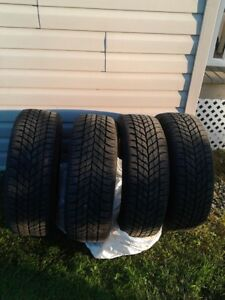 Four Good Year Ultra Grip Studable Winter Tires for Sale.