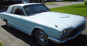 T BIRD 1966 BABY BLUE W/VINYL TOP, 390 AUTOMATIC + NEW NEW NEW