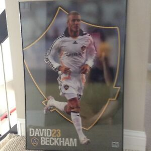 David Beckham Poster in the frame