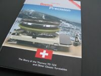BRAND NEW Thorens TD 124, Swiss Precision Book, Joachim Bung, Story Of The TD124 + Other Turntables