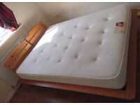 King size bed and orthopaedic mattress