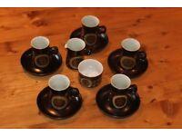 Arabesque Denby Stoneware - 12 piece coffee set