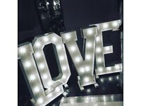 Giant 4ft LOVE Letters for hire Midlands Derby Nottingham Staffordshire £195