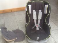 Britax Forst Class Plus car seat for newborn upto 18kg(to 4yrs)reclines,washed&cleaned,rear&forward