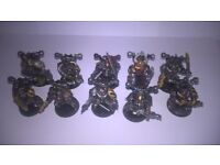 WARHAMMER 40K CHAOS SPACE MARINES X10 PLASTIC GOOD CONDITION