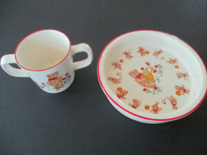 Vintage Toddler Cup and Bowl---Made in England by Masons--Bears