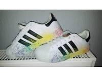 Adidas superstars Pride/Rainbow colours