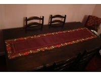 Red Satin Type Table Runner / Table Cloth