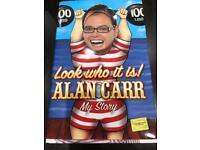 Alan Carr - look who it is - hardback - new