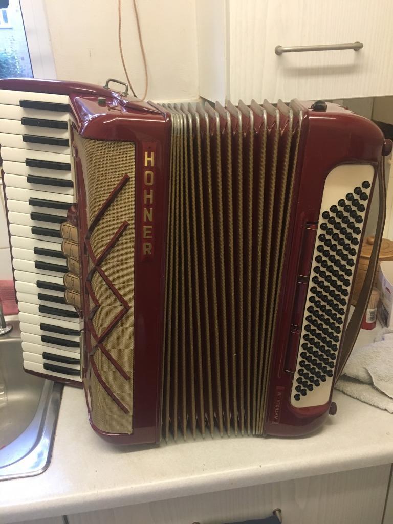Accordion hohner virtuola 3 accordeon akkordeon melodeon