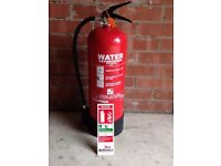 WATER FIRE EXTINGUISHER by EXCELSIUS - Size 9LTR - NEVER USED