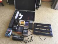 Various Guitar pedals, stompboxes and accessories