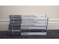 Selection of games for PS2