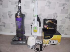 Job lot of household items including hoover and steam cleaner