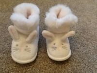 The little white company 6-12 month booties/slippers