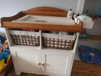 Toddler bed, wardrobe & changing unit