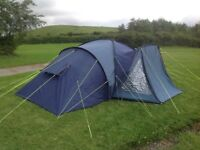 Outwell Goldfield Plus 8 berth tent very good condition NO TEARS OR DAMAGE