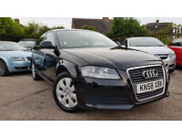 2009 AUDI A3 1.6 PETROL 3 DOOR,FULL AUDI DEALER SERVICE HISTORY,VERY GOOD CONDITION