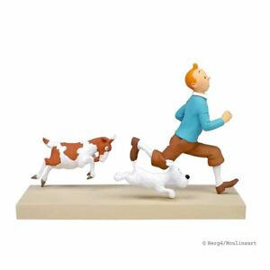 Tintin & Snowy Tintin and the Goat Resin Figure, Figurine (NEW)