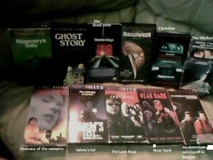 Classic horror movie VHS collection