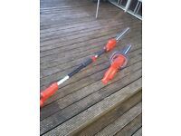 Flymo SABRE CUT 18v Cordless Telescopic Hedge Trimmer plus easy cut 420