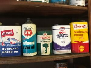 Collectible Outboard Motor Oil Tins