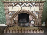 1937 Tiled Fireplace