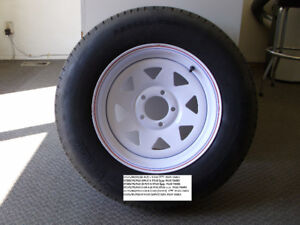 TRAILERS TIRES ON RIMS FOR SALE (Tires not separate from rims)