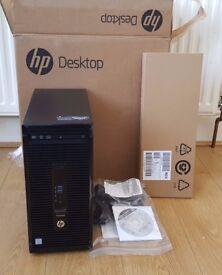 Brand New Boxed HP ProDesk 400 G3 Core i5-6500 3.2GHz 4GB 500GB DVD-RW Windows 7 Pro Desktop