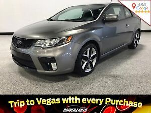 2011 Kia Forte Koup 2.4L SX CLEAN CARPROOF, 6 SPEED MANUAL, B...